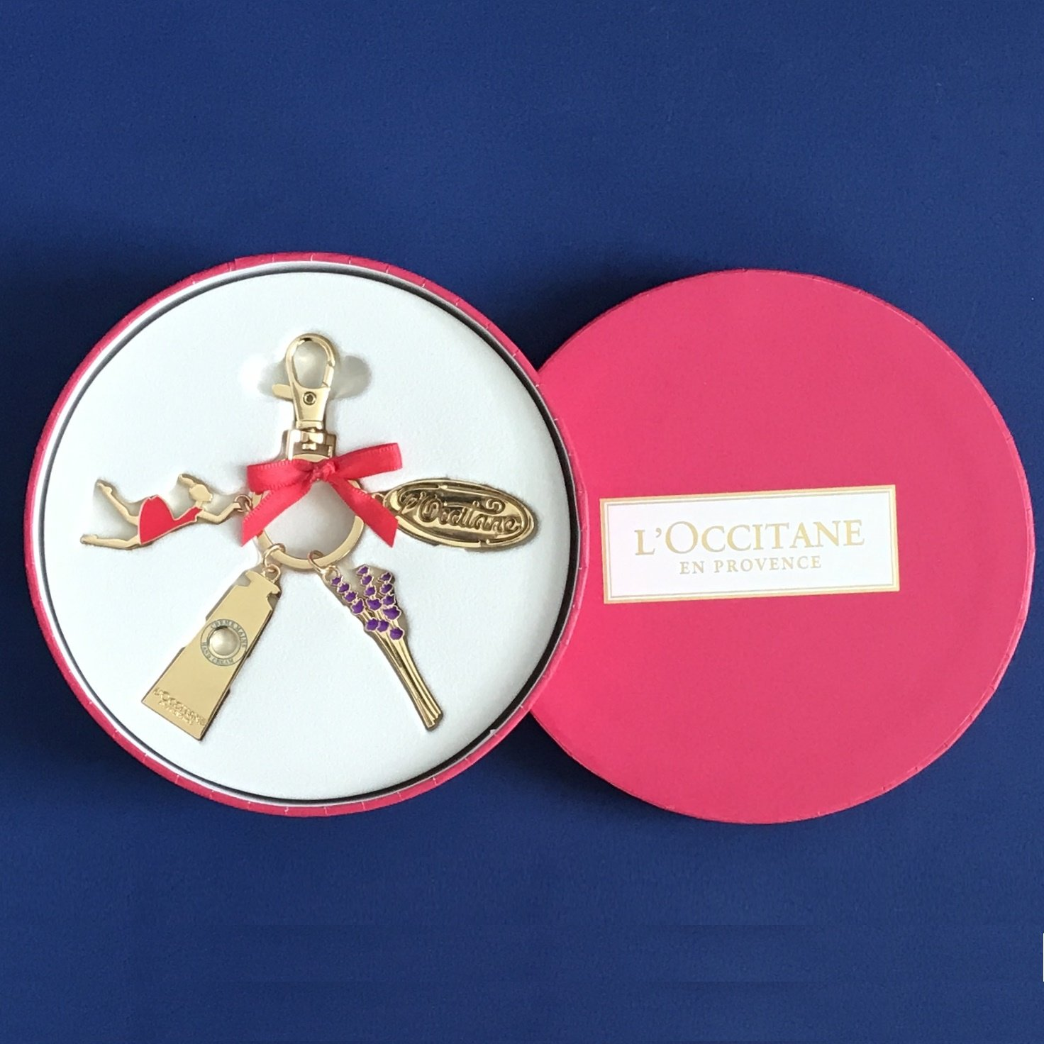 NIB L'Occitane Collector's Edition Charm Key Chain Ring Fob