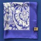 NEW Paul Stuart Purple & Ivory Paisley Print Handkerchief Pocket Square