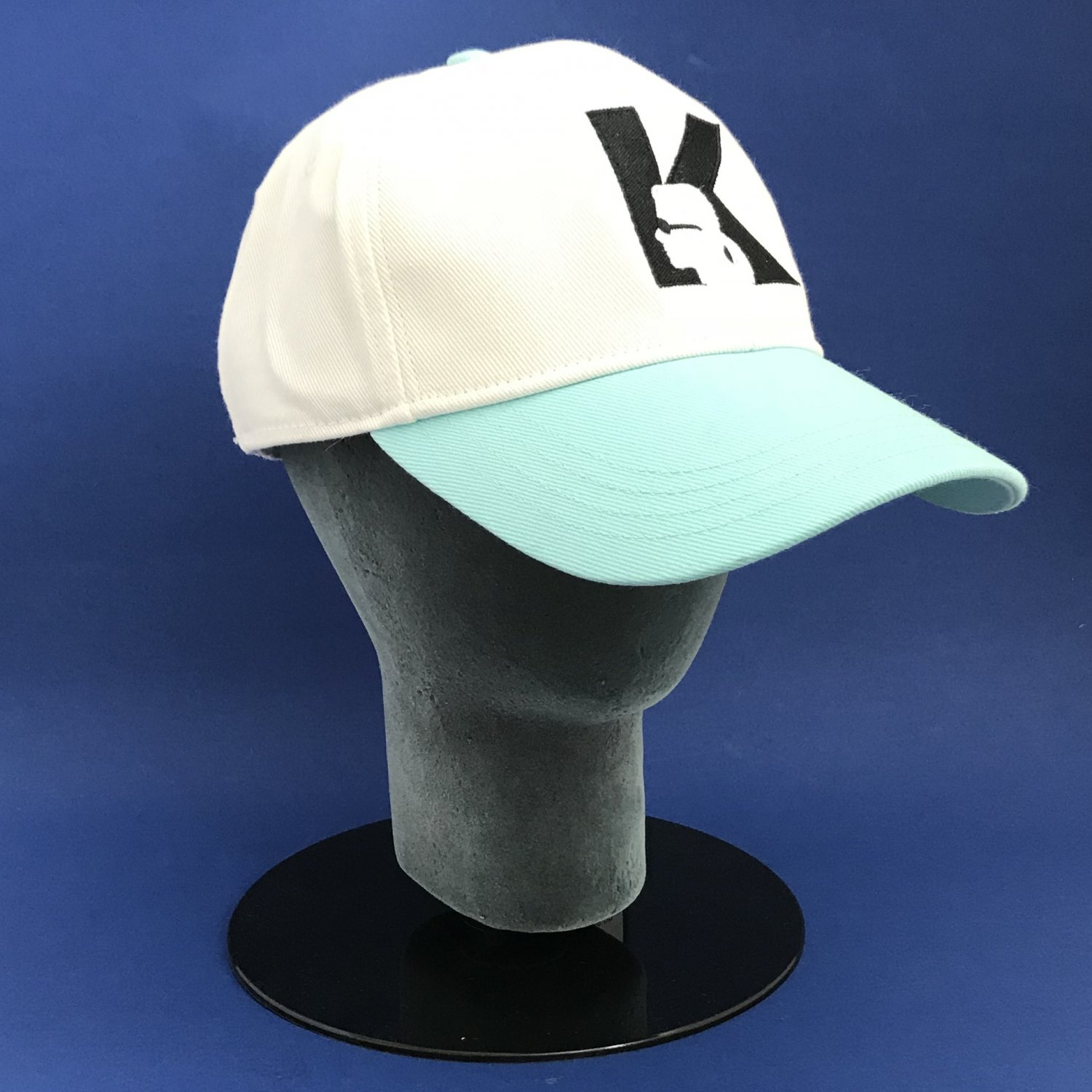 NWT Karl Lagerfeld of Paris Aqua Splash Embroidered Cotton Baseball Cap Hat - OS