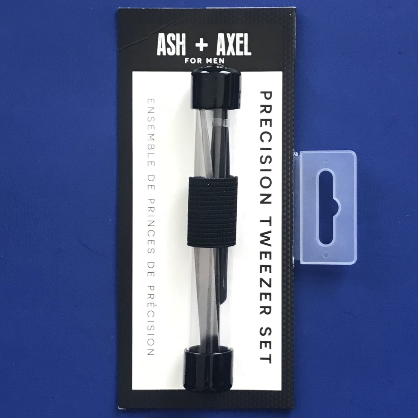 NIP Ash +Axel 100% Stainless Precision 2PC Tweezer Set #AA7019BL