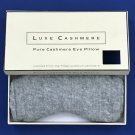 NIB Luxe Pure Cashmere Hot/Cold Sinus Sleep Eye Cover Pillow - Gray