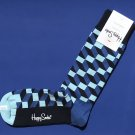NWT Happy Socks Blue Filled Optic Cotton Socks