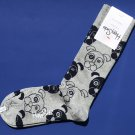 NWT Happy Socks Gray w/Blue Dogs Cotton Socks