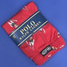 NWT Polo Ralph Lauren Cotton Knit Red Ski Bear Classic Fit Button Front Boxer - M