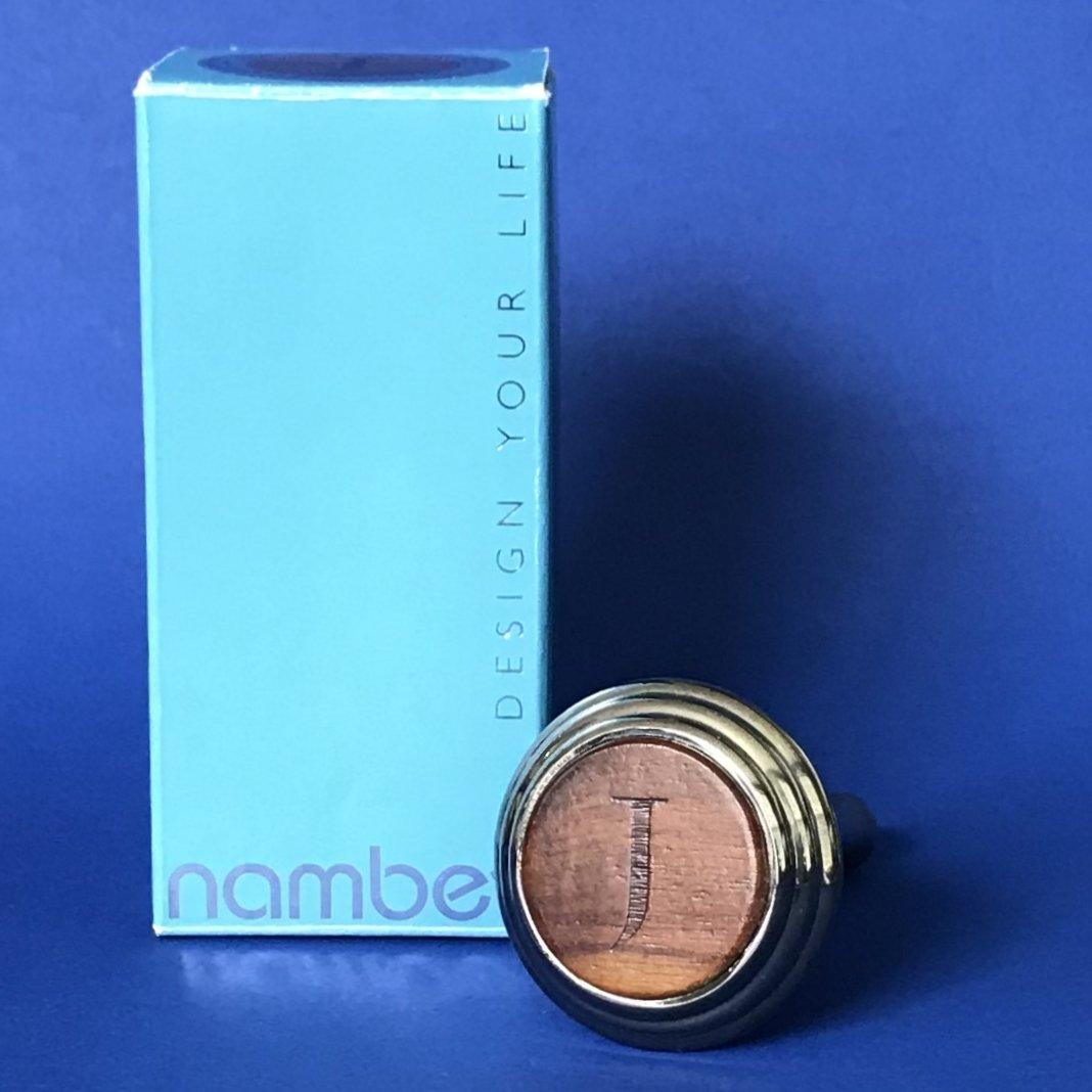 """NIB Nambe Alto """"J"""" Monogram Letter Wine Bottle Stopper #MT0830"""