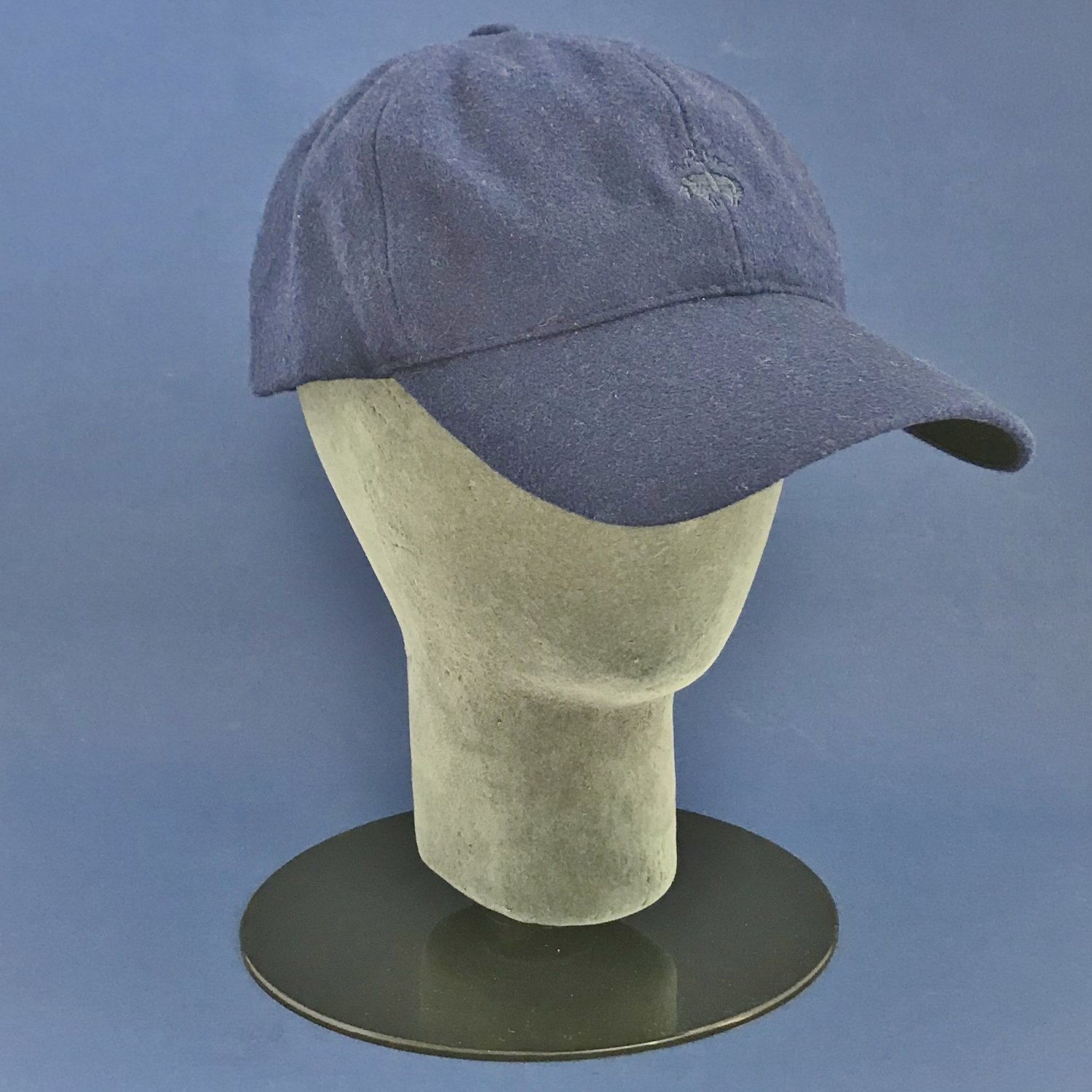 NWT Brooks Brothers Royal Blue Wool Blend Baseball Cap Hat - S/M