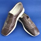 Pre-Owned Hogan Brown Leather Slip-on Sneakers Loafers - 39 - FINAL SALE
