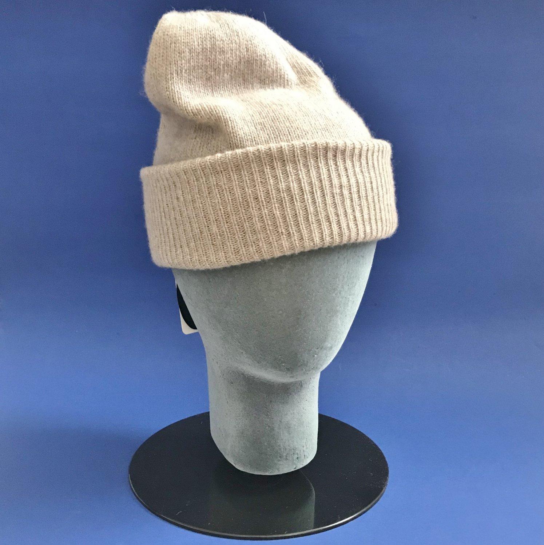 NWT Portolano Beige 100% Cashmere Knit Skull Cap Hat - One Size