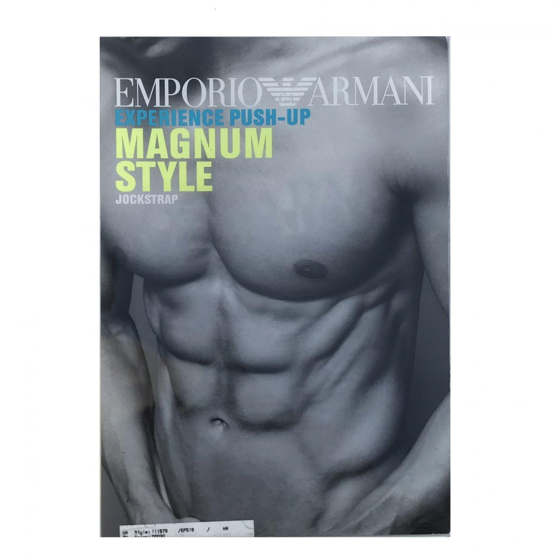 NIB Emporio Armani Experience Push-Up Magnum Style Black Athletic Jock Strap #111579  - XL