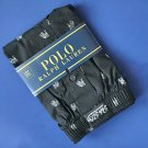 NWT Polo Ralph Lauren Woven Cotton Black Bulldog Print Classic Fit Button Front Boxer