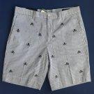 NWT Polo Ralph Lauren Striped Jolly Roger Print Seersucker Newport Shorts - 42