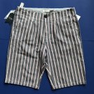 NWT Fiver Pop Elegance Men's Striped Denim Cotton Blend Shorts - S