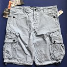 NWT PRPS Goods & Co. Baby Blue Cotton Blend Button Front Cargo Shorts - 42