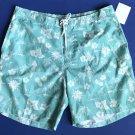 NWT Trunks Surf & Swim Co. Blue Hawaiian Floral Print Swim Trunks - XXL