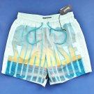 NWT Vilebrequin Moopea Jade Sunrise & Sunset Print Swim Trunks - L