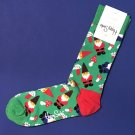NWT Happy Socks Green with Multi-Colored Gnomes Cotton Socks