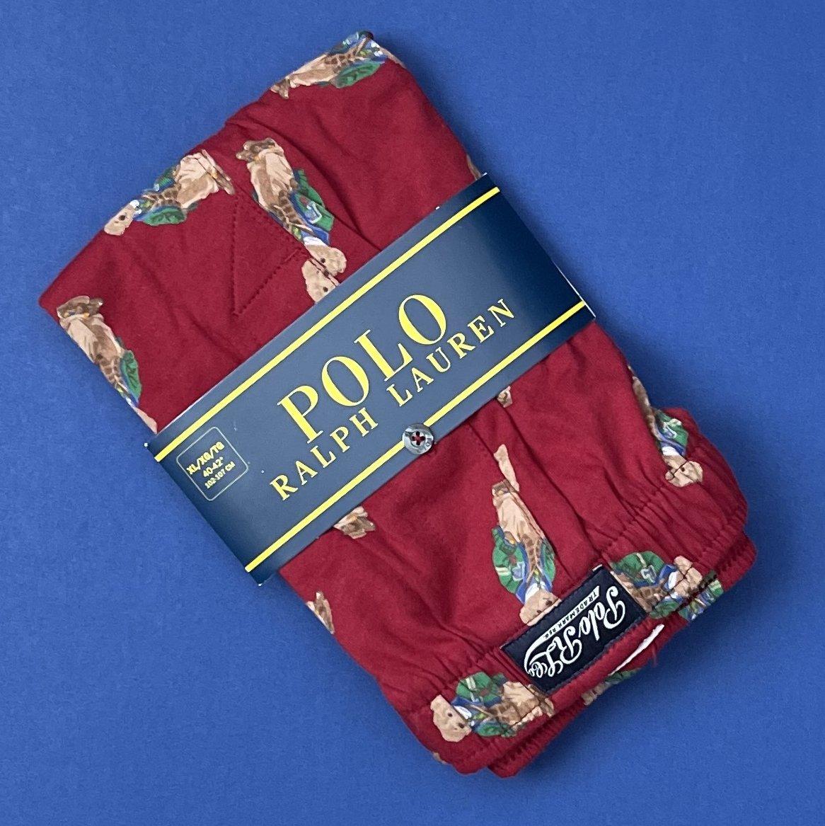NWT Polo Ralph Lauren Preppy Bear Cotton Knit Classic Fit Button Front Boxer
