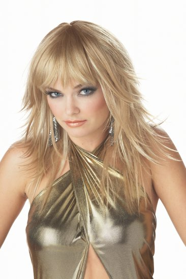 80's Sexy Rock Star Feathered And Flirty Adult Costume Wig #70352