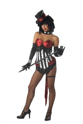 Sexy Burlesque Beauty Circus Ring Master Costume Size Large #00995