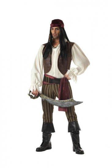 Size: Medium #00827  Captain Hook Sparrow Rogue Pirate Buccaneer  Adult Costume