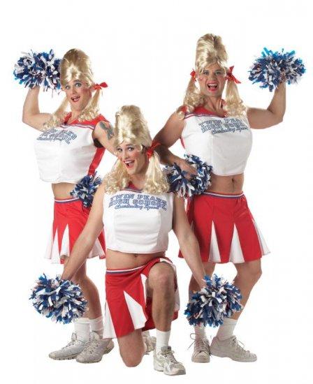 Drag Queen Varsity Cheerleader Adult  Costume #00967