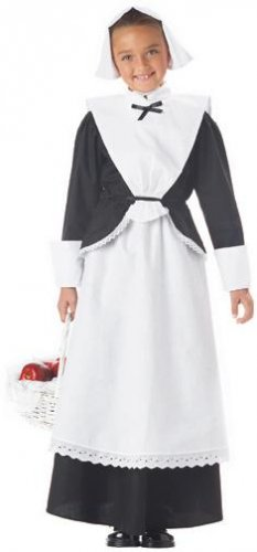 Colonial Thanksgiving Pilgrim Girl Child Costume Size: X-Small #00558