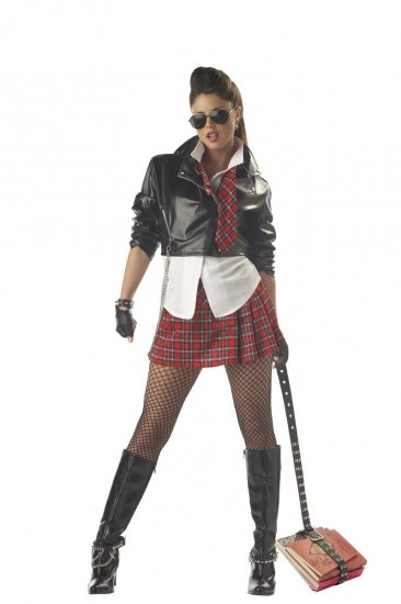 Rebel School Girl Adult Costume Size: Medium #01002