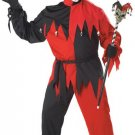 Evil Jester Crazy Clown Joker Plus Size Adult Costume #01613