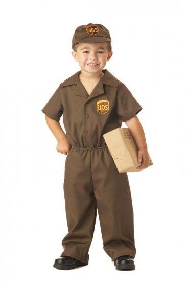 UPS Guy Toddler Costume Size: Medium #00043