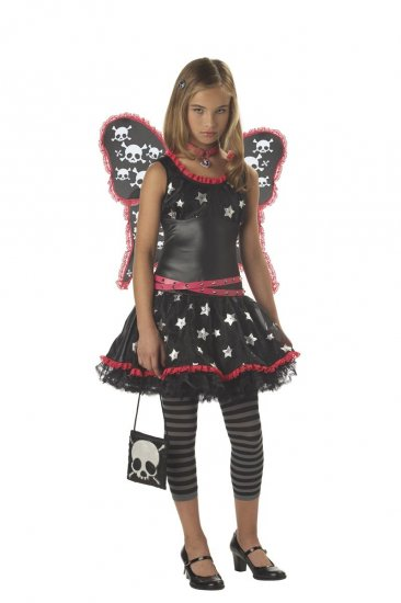 Rock Star Skull and Stars Fairy Tween Child Costume Size: Large #04025