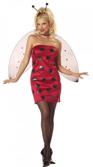 Sexy Lady Bug Adult Costume Size: Large #01392