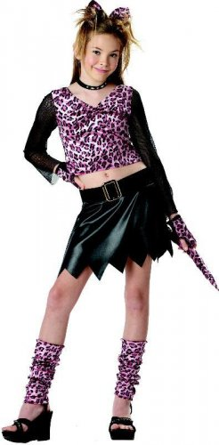Sassy Cat Leopard Child Costume Size: Large #00249