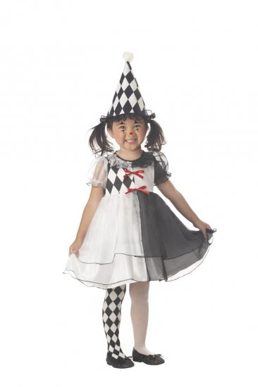 Circus Clown Harlequin Toddler Costume Size: Large #00067