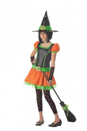 Sassy Pumpkin Witch Tween Child  Costume Size: Large #04018