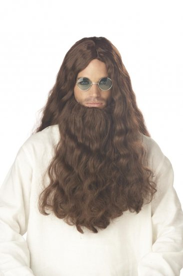 Trippin Hippie Moses Adult Costume Wig & Beard #70535