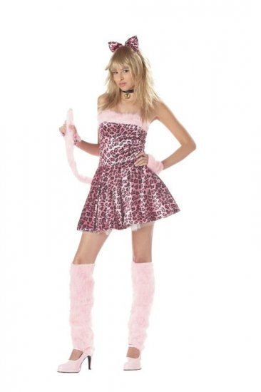 Purrty Kitty Cat Hello Kitty Teen Costume Size: Jr (3-5) #05014