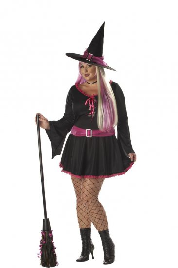 Witch Groovy Magic Plus Size Adult Costume