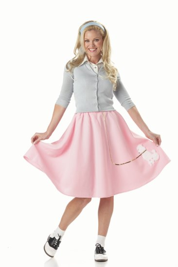 Grease Poodle Skirt Adult Costume Size:  Medium #00830
