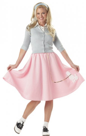 50's Poodle Skirt Grease Adult Costume Size: Large #00830