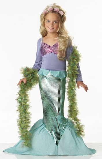Ariel Little Mermaid Child Costume Size: Medium #00246