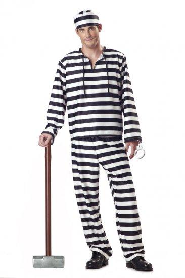 Jailbird Convict Adult Costume Size: Small #00801