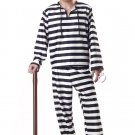 Jailbird Prisoner Convict Adult Costume Size: Large #00801