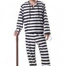 Convict Jailer Jailbird Adult Costume Size: X-Large #00801
