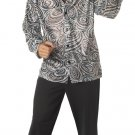 Groovy Disco Shirt With Wig Adult Costume Size: Large #00984