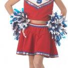 USA Patriotic Cheerleader Child Costume Size: Small #00411