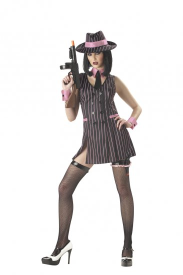 Hitgirl Gangster Mobster Adult Costume Size: Small #01062