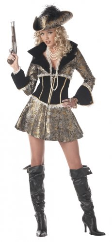 Pirate Captain D' Elegance Adult Costume Size: Large #00938
