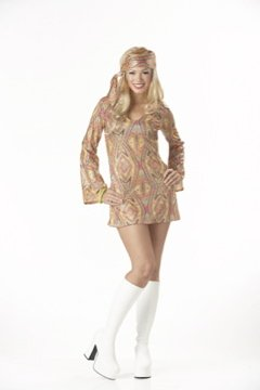 70's Disco Dolly Adult Costume Size: Medium #00811