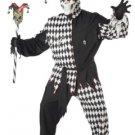 Evil Jester Circus Clown Joker Plus Size Adult Costume #01627