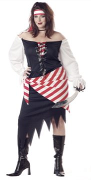 Ruby the Pirate Beauty Plus Size Adult Costume : 2X-Large #01608